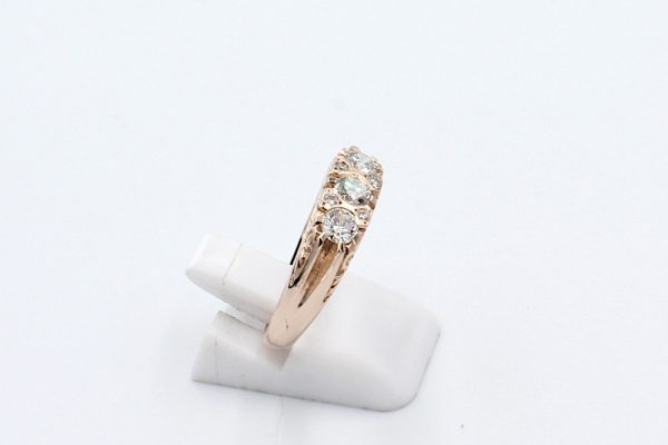 rose gold antique style ring side