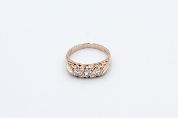 rose gold antique style ring top