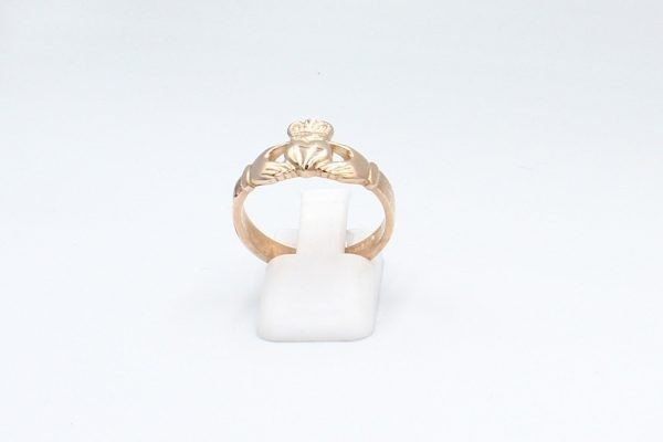 rose gold claddagh ring plain 1