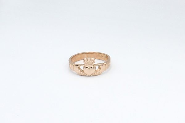rose gold claddagh ring plain 3