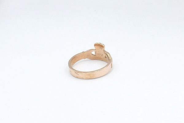 rose gold claddagh ring plain 4
