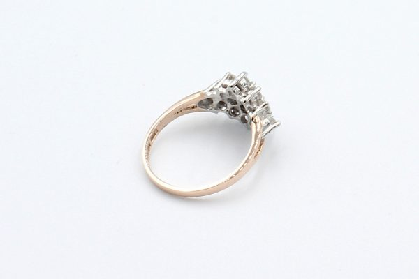 rose gold diamond cluster ring back 1