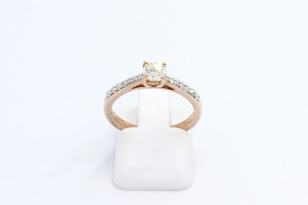 rose gold engagement ring 1 1