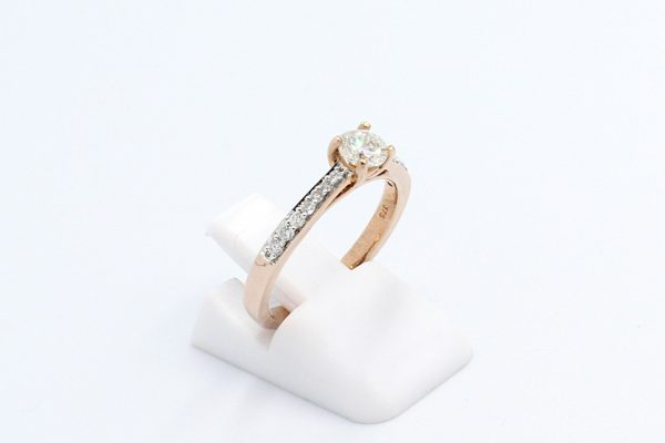 rose gold engagement ring 2 1