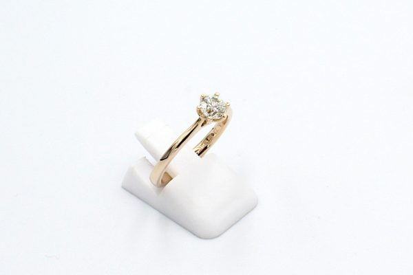 rose gold solitaire diamond engagement ring side
