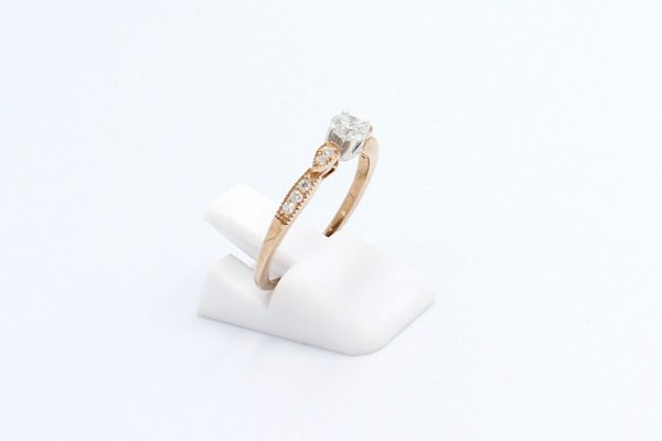 rose gold solitaire engagement ring 2
