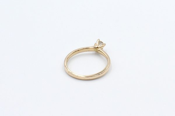 rose gold solitaire engagement ring back