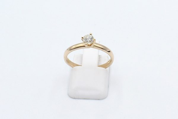 rose gold solitaire engagement ring front