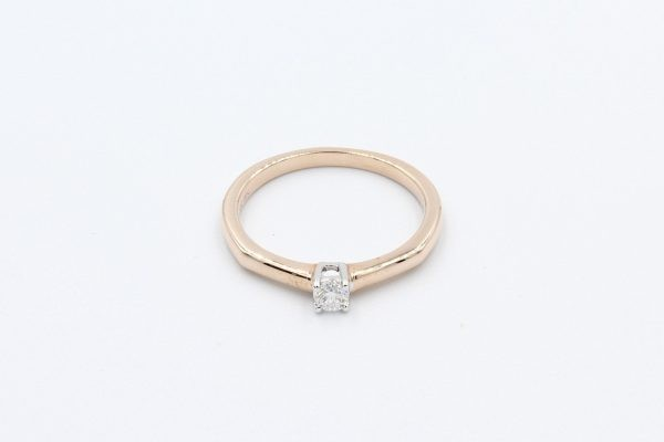 rose gold solitaire ring 1