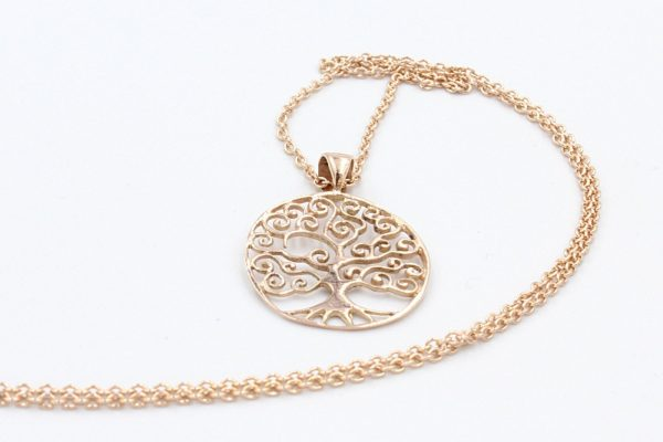 rose gold tree of life pendant 2