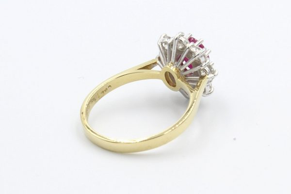 ruby diamond cluster ring 2