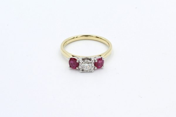 ruby diamond gold engagement ring 3