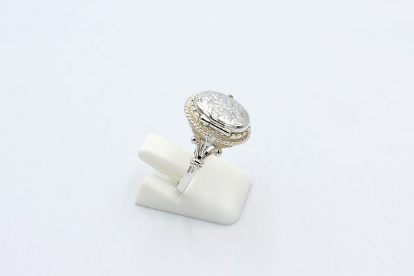 silver creamtion ring side