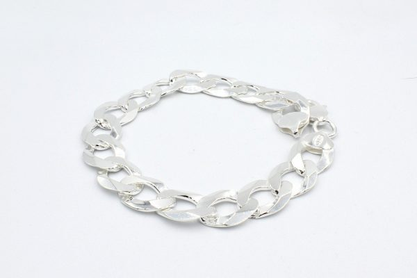 silver curb bracelet rolled scaled 1