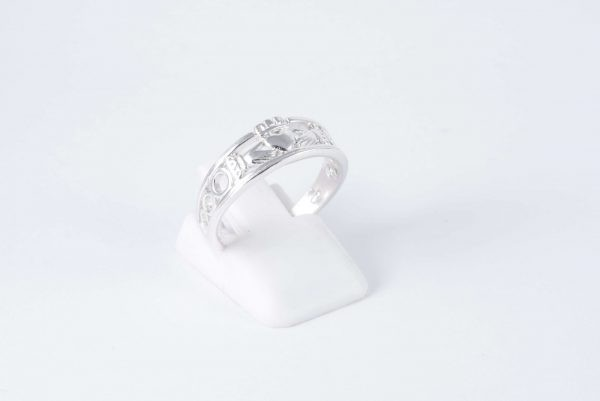solid silver claddagh ring 2