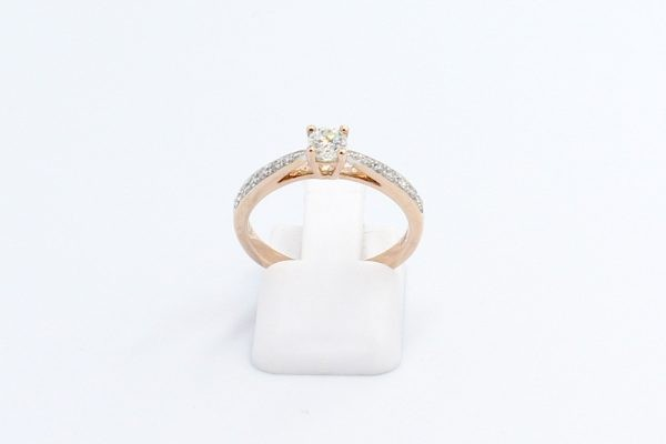 solitaire diamond ring rose gold 1