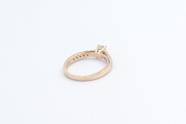 solitaire diamond ring rose gold 4