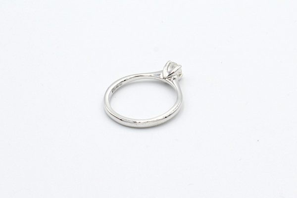 solitaire diamond ring white gold back