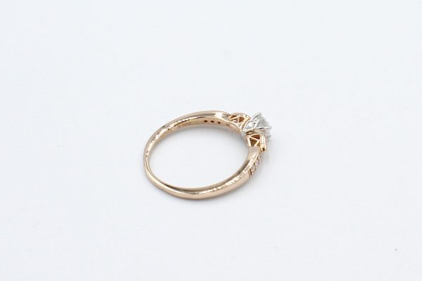 solitaire diamond rose gold ring back