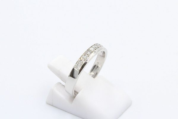 white gold diamond channel ring 2