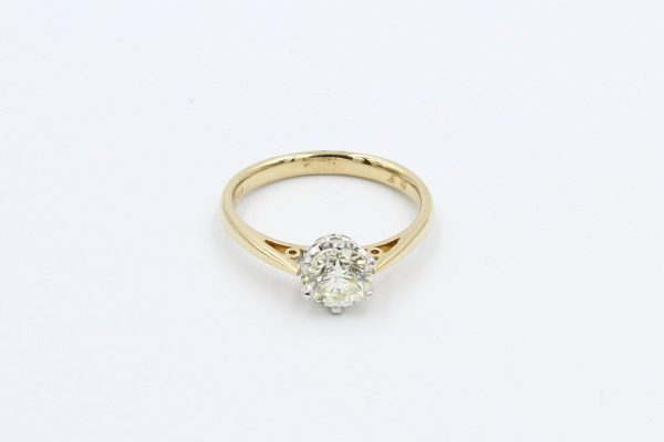 yellow gold solitaire diamond ring 1