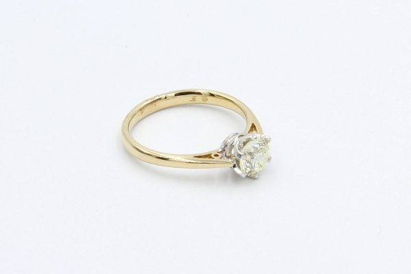 yellow gold solitaire diamond ring 2