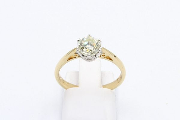yellow gold solitaire diamond ring 4