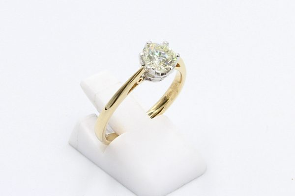 yellow gold solitaire diamond ring 5