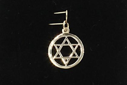 pendant gold star of david