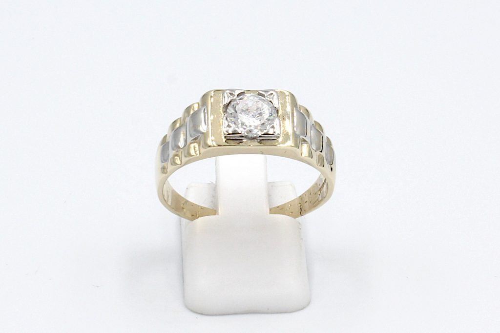 a rolex style gold engagement ring for men