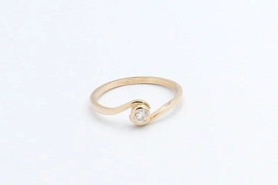 a rose gold diamond engagement ring