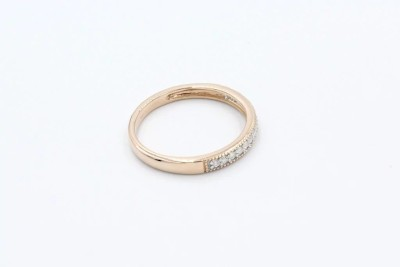 a rose gold diamond wedding ring