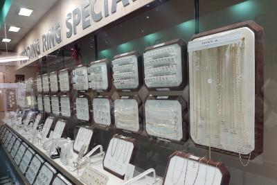 a jewellery display case outside martin gear jewellers