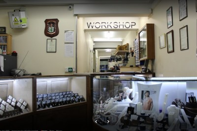 the inside of martin gear jewellers workshop